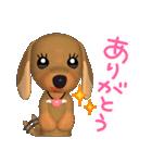 3D ダックスフレンズ(4) ホワイトデー入り(個別スタンプ:05)