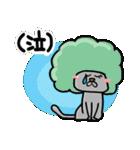猫リアクション。アフロ猫。(個別スタンプ:4)
