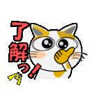 みーこ5(デカ文字)(個別スタンプ:03)