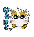 みーこ5(デカ文字)(個別スタンプ:20)