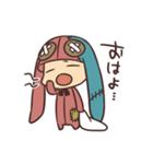 無気力うさぎさん(個別スタンプ:01)