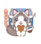 バレンタインデイ〜ふわふわのラグドール(個別スタンプ:16)