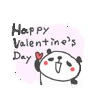 バレンタインデー英語ぱんだValentine'sDay(個別スタンプ:01)