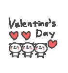 バレンタインデー英語ぱんだValentine'sDay(個別スタンプ:02)
