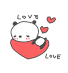 バレンタインデー英語ぱんだValentine'sDay(個別スタンプ:04)