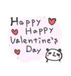 バレンタインデー英語ぱんだValentine'sDay(個別スタンプ:07)