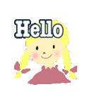 かわいい女の子のスタンプ 日常で使う言葉(個別スタンプ:01)