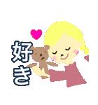 かわいい女の子のスタンプ 日常で使う言葉(個別スタンプ:27)