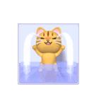 飛び出すニャンコ【動く3D】(個別スタンプ:17)