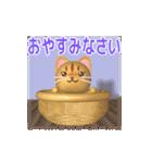 飛び出すニャンコ【動く3D】(個別スタンプ:20)