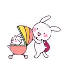 子育てウサギ(ママ編)(個別スタンプ:32)