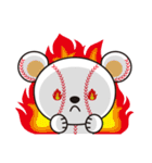野球クマさん(個別スタンプ:30)