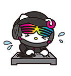 DJ Hello Kitty(個別スタンプ:5)