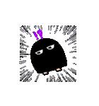黒メジェド(個別スタンプ:01)