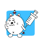 ネコのしろまるくん 【ママバージョン】(個別スタンプ:7)