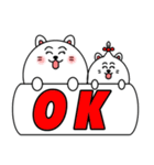 ネコのしろまるくん 【ママバージョン】(個別スタンプ:35)
