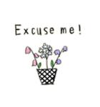 Flower vase(個別スタンプ:06)