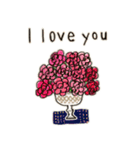 Flower vase(個別スタンプ:09)