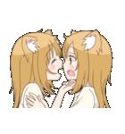 百合物語3(双子にゃんこ)(個別スタンプ:1)