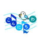 音符で挨拶 ちょこちょこインコ(春)(個別スタンプ:01)