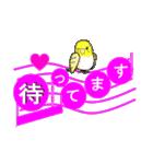 音符で挨拶 ちょこちょこインコ(春)(個別スタンプ:25)