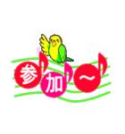 音符で挨拶 ちょこちょこインコ(春)(個別スタンプ:37)