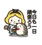 ハリネズミと女の子 2(個別スタンプ:01)