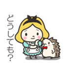ハリネズミと女の子 2(個別スタンプ:17)