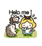 ハリネズミと女の子 2(個別スタンプ:31)