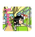 (暮)平和な日常☆黒髪女子第4弾(個別スタンプ:19)