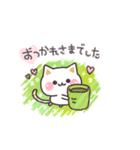 スケッチ!気づかいのできるネコ 敬語編(個別スタンプ:01)