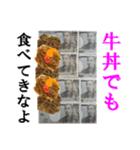 【実写】牛丼(個別スタンプ:08)