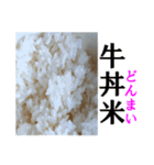 【実写】牛丼(個別スタンプ:18)