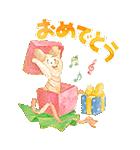 くまのプーさん桜くじ付きスタンプ(個別スタンプ:04)