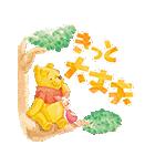 くまのプーさん桜くじ付きスタンプ(個別スタンプ:12)