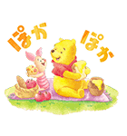 くまのプーさん桜くじ付きスタンプ(個別スタンプ:15)