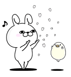 くま&うさぎ100%桜くじ付きスタンプ(個別スタンプ:10)