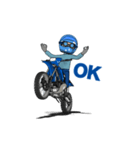 俺は青いオフロードバイクが大好きです!(個別スタンプ:03)