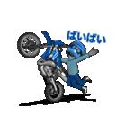 俺は青いオフロードバイクが大好きです!(個別スタンプ:09)