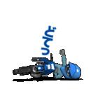 俺は青いオフロードバイクが大好きです!(個別スタンプ:14)