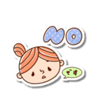 おだんごヘアーの女の子☆(個別スタンプ:2)