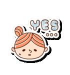 おだんごヘアーの女の子☆(個別スタンプ:4)