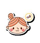 おだんごヘアーの女の子☆(個別スタンプ:6)