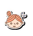 おだんごヘアーの女の子☆(個別スタンプ:10)