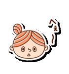 おだんごヘアーの女の子☆(個別スタンプ:15)