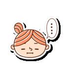 おだんごヘアーの女の子☆(個別スタンプ:17)