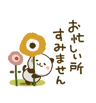 大人可愛い♪パンダねこ 敬語2(個別スタンプ:17)