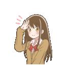 デカ文字女子高生(個別スタンプ:03)