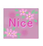 伝えたい想いにかわいい花を添えて。英語版(個別スタンプ:4)