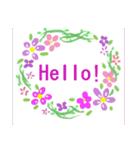 伝えたい想いにかわいい花を添えて。英語版(個別スタンプ:10)